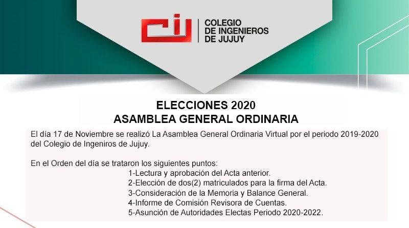 Asamblea General Ordinaria 2019-2020