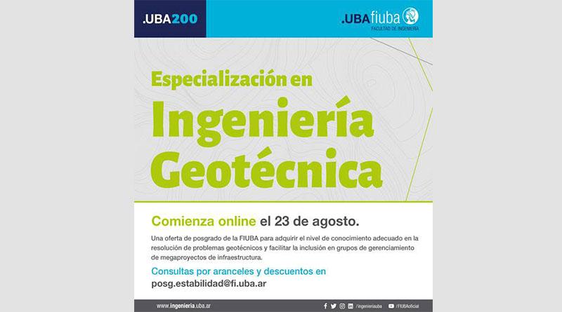 Carrera de Especialización en Ing. Geotécnica