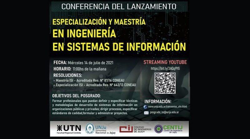 Conferencia Virtual del Lanzamiento de la Especialización y Maestría en Ingeniería en Sistemas de Información